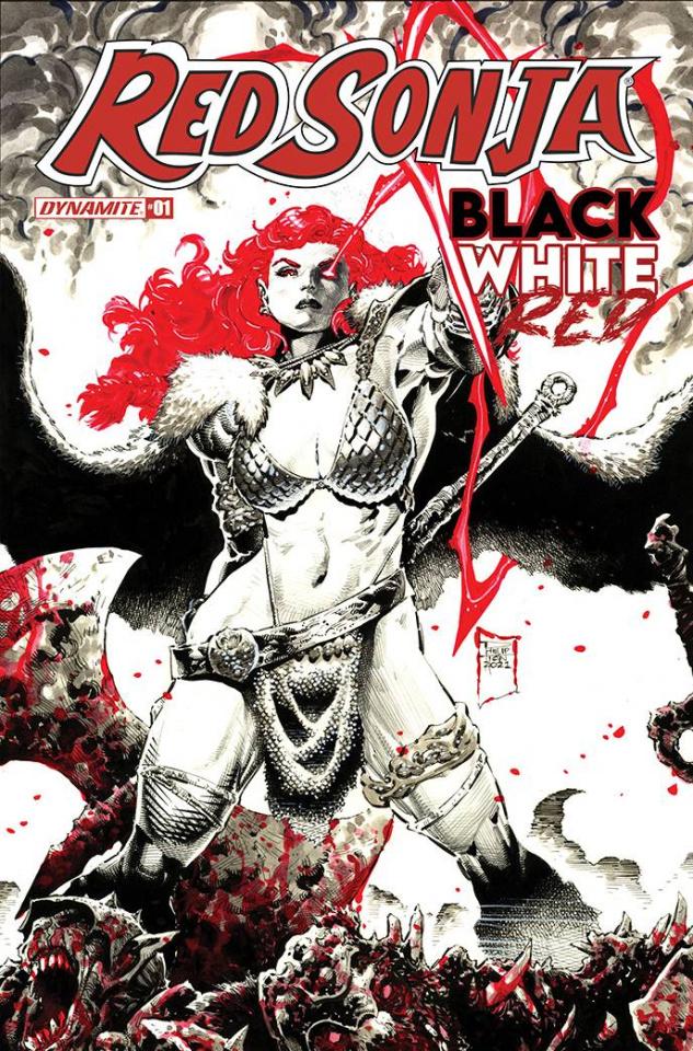 Red Sonja: Black, White, Red #1 (Tan Cover)