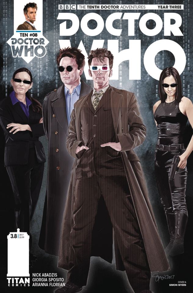 Doctor Who: New Adventures with the Tenth Doctor, Year Three #8 (Myers Cover)