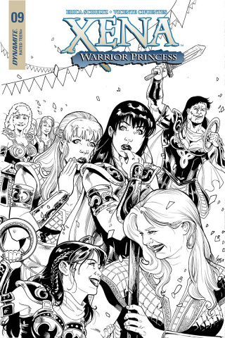 Xena #9 (25 Copy Cifuentes B&W Cover)