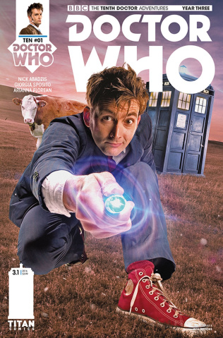 Doctor Who: New Adventures with the Tenth Doctor, Year Three #1 (Photo Cover)
