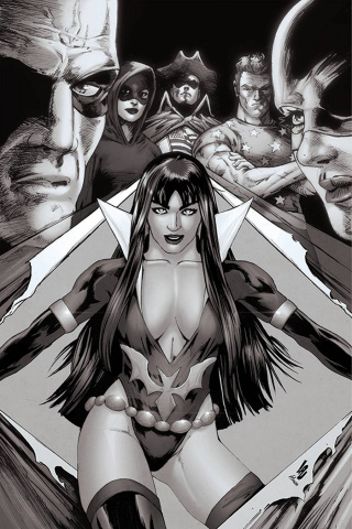 Vampirella: The Dark Powers #2 (25 Copy Lau B&W Virgin Cover)