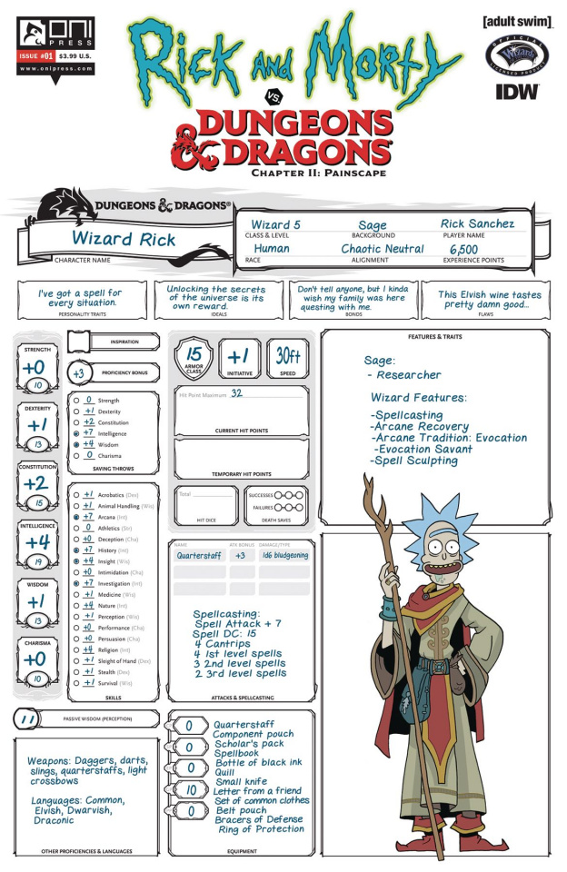 Rick and Morty vs. Dungeons & Dragons II: Painscape #1 (Look Zub Cover)