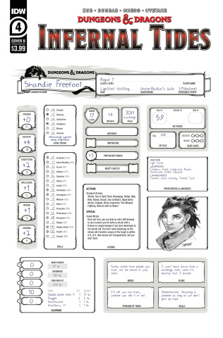 Dungeons & Dragons: Infernal Tides #4 (Character Sheet Cover)