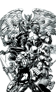 Justice League of America #2 (Black & White Cover)