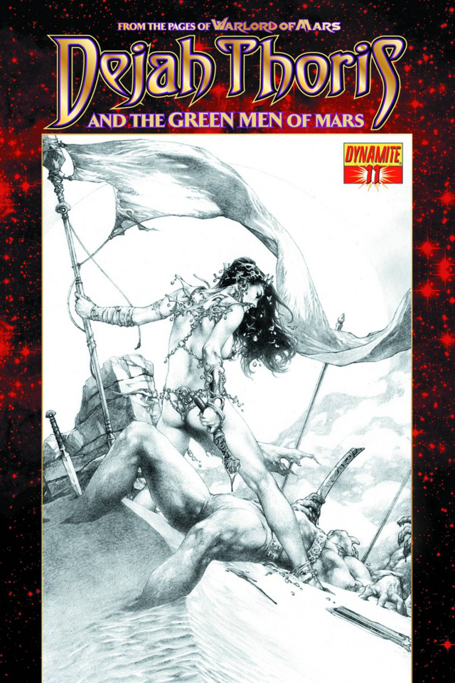 Dejah Thoris & The Green Men of Mars #11 (Black & White Cover)