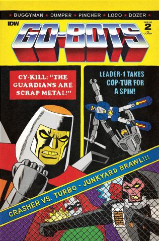 Go-Bots #2 (10 Copy Rugg Cover)