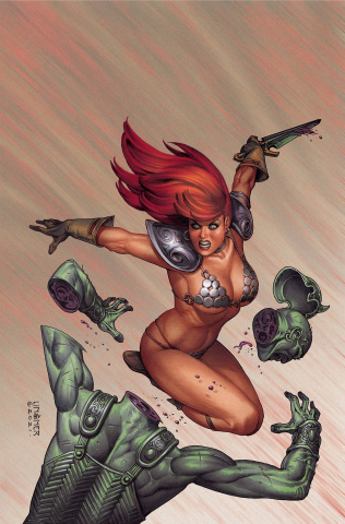 The Invincible Red Sonja #7 (Linsner Virgin Cover)