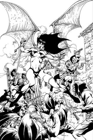 Vengeance of Vampirella #8 (Castro B&W Virgin Cover)