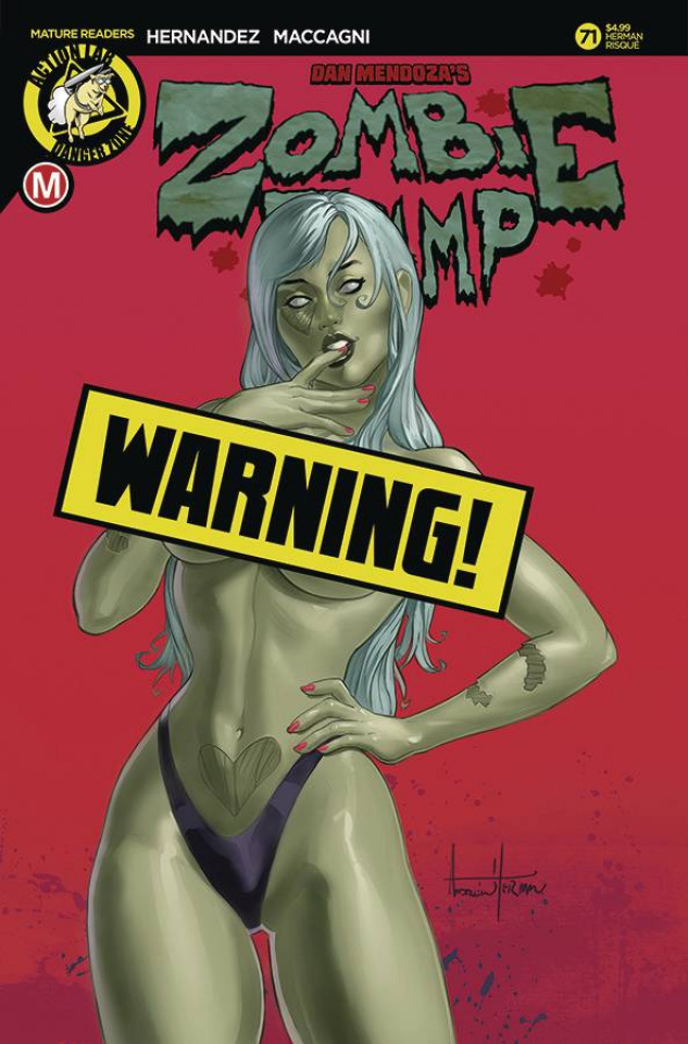 Zombie Tramp #71 (Herman Risque Cover)