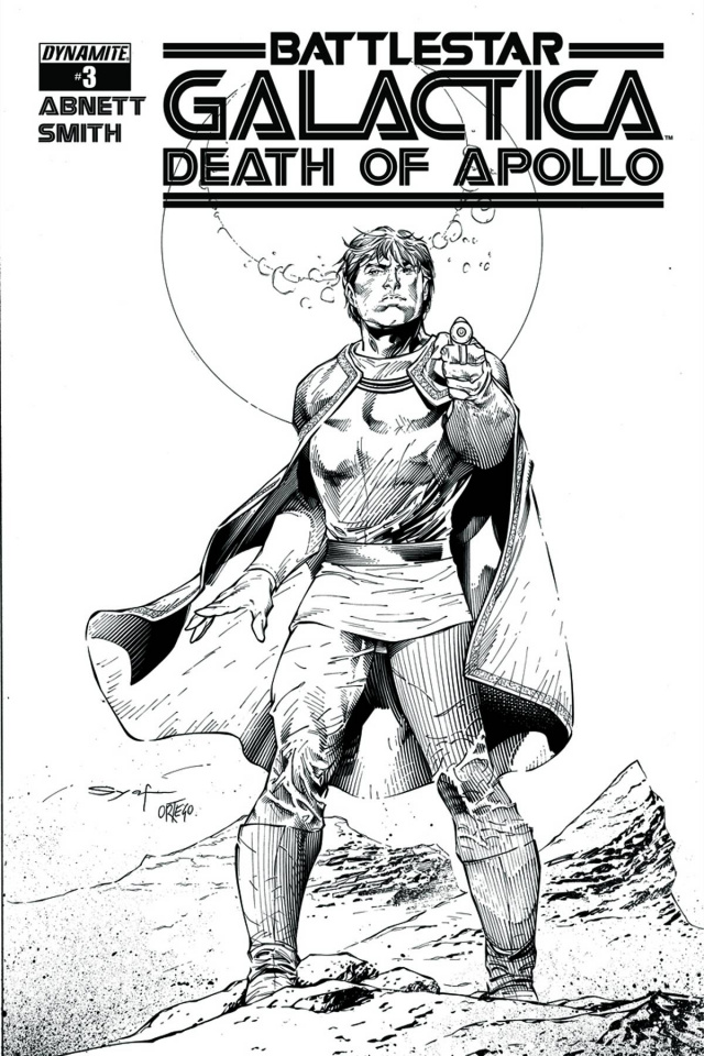 Battlestar Galactica: Death of Apollo #3 (15 Copy Syaf B&W Cover)