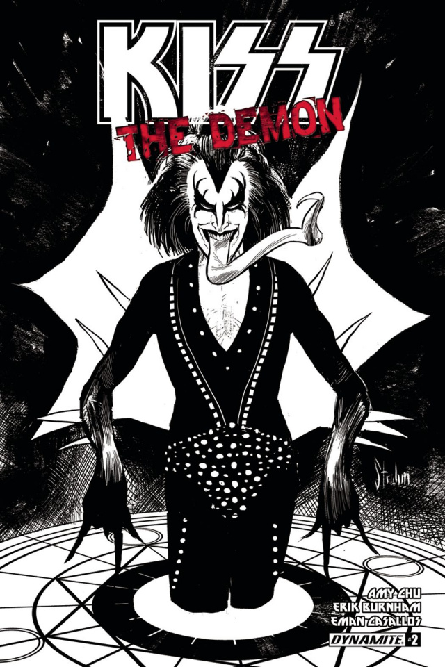 KISS: The Demon #2 (10 Copy Strahm B&W Cover)