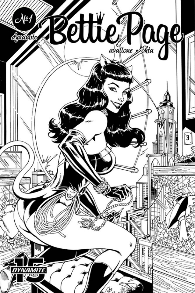 Bettie Page: Unbound #5 (11 Copy Royle B&W Dressed Cover)