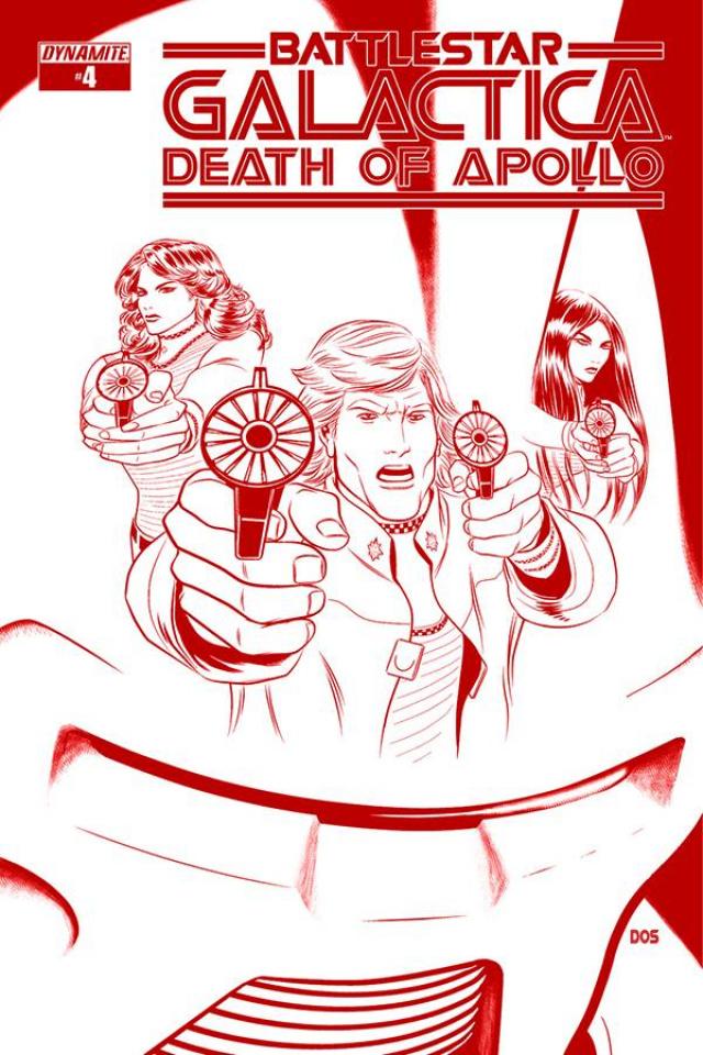 Battlestar Galactica: Death of Apollo #4 (25 Copy Smith Cylon Cover)