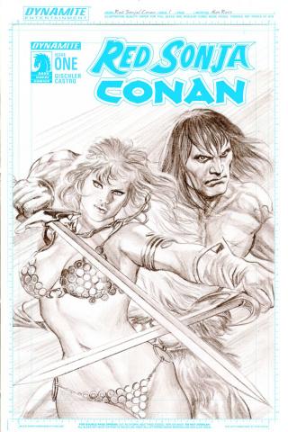 Red Sonja / Conan #1 (25 Copy Ross Artboard Cover)
