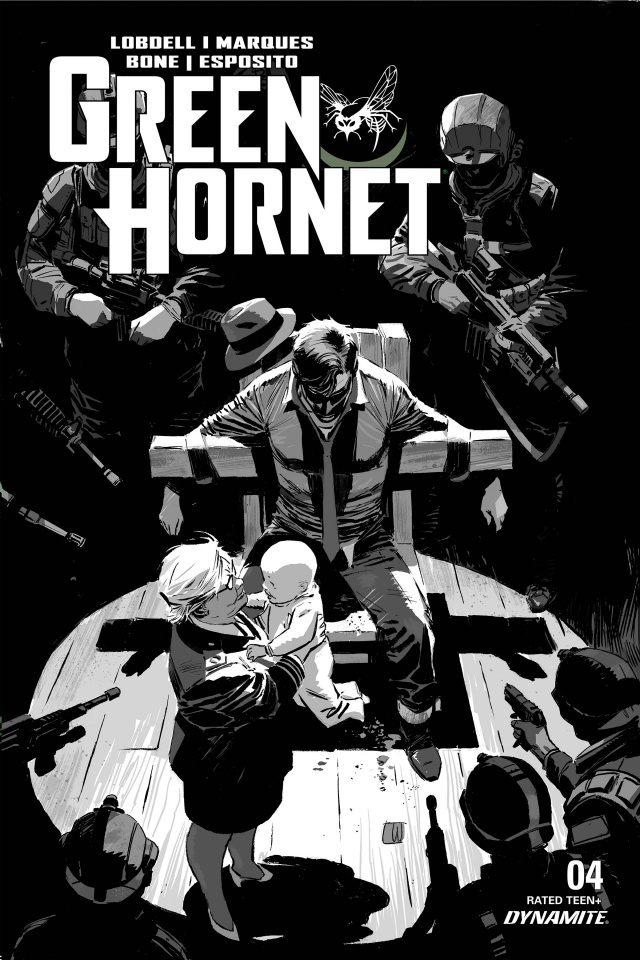 Green Hornet #4 (20 Copy Weeks B&W Cover)