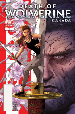 Death of Wolverine #3 (McNiven Canada Cover)