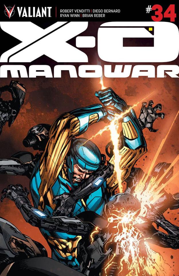 X-O Manowar #34 (25 Copy Guice Cover)
