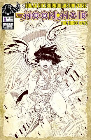 The Moon Maid: The Three Keys #1 (Virgin Ortiz Cover)