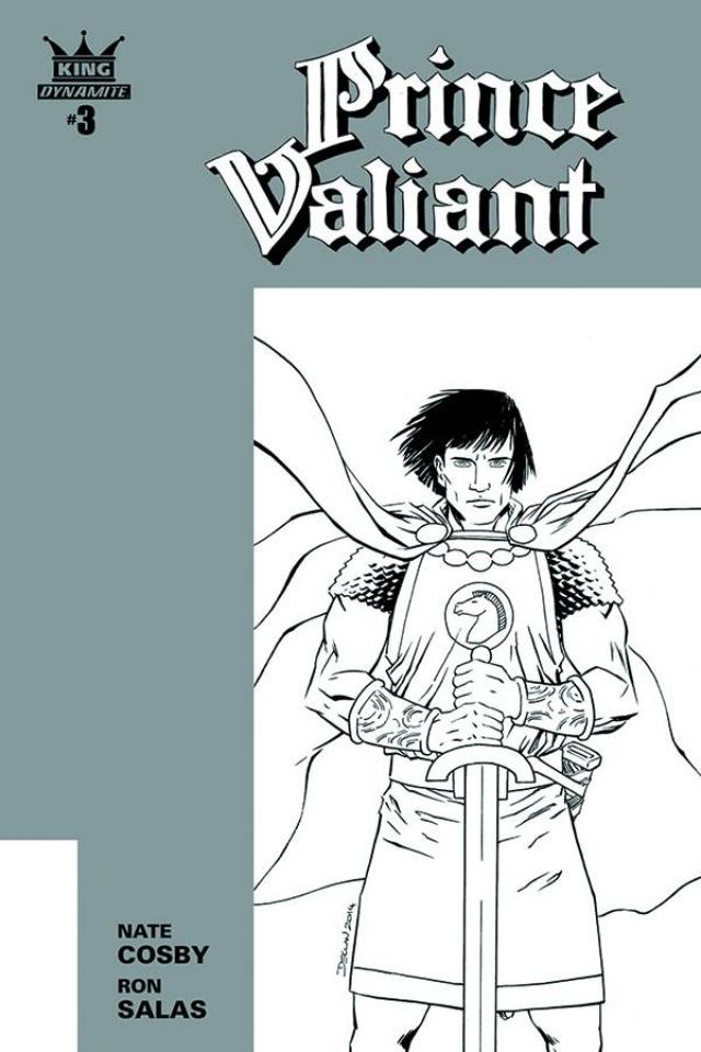 Prince Valiant #3 (10 Copy Shalvey B&W Cover)