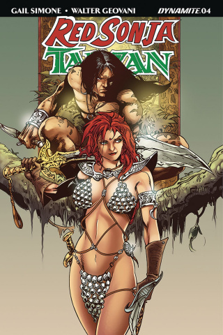 Red Sonja / Tarzan #4 (Castro Subscription Cover)