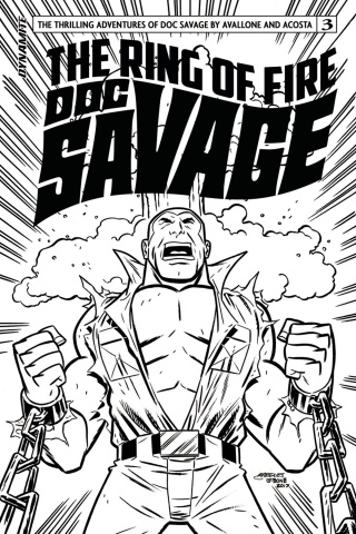 Doc Savage: The Ring of Fire #3 (20 Copy B&W Cover)