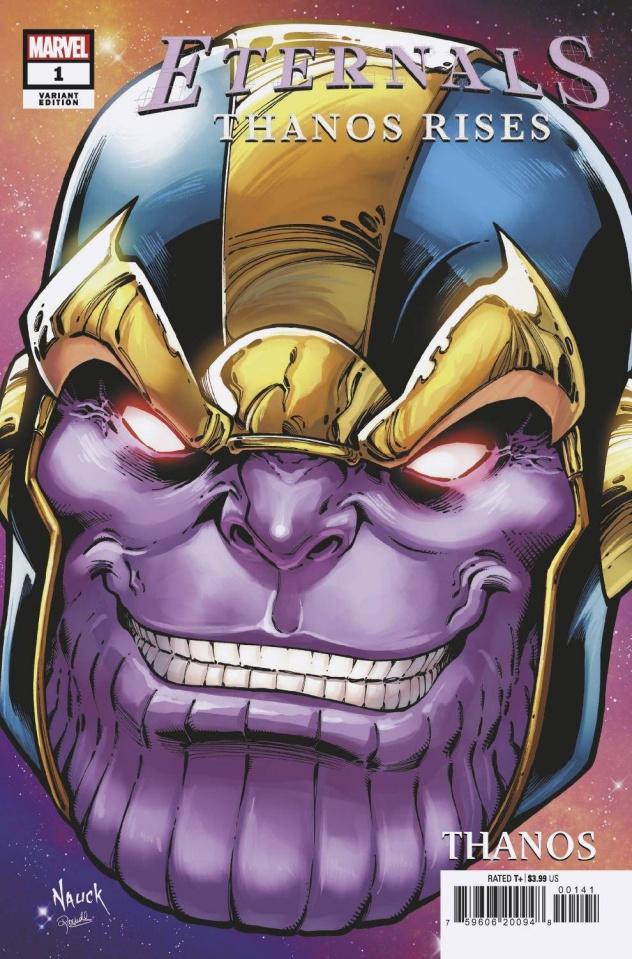 Eternals: Thanos Rises #1 (Todd Nauck Headshot Cover)