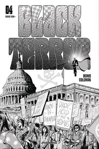 Black Terror #4 (20 Copy Fornes B&W Cover)