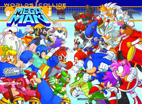 Mega Man #25 (Gatefold Cover)