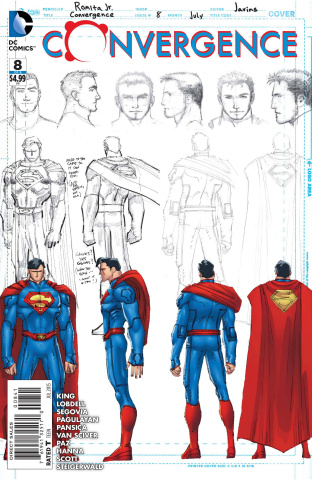 Convergence #8 (Superman Sketch Cover)