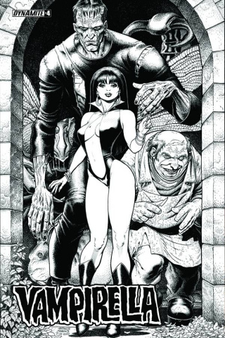 Vampirella: Feary Tales #4 (25 Copy Adams B&W Cover)