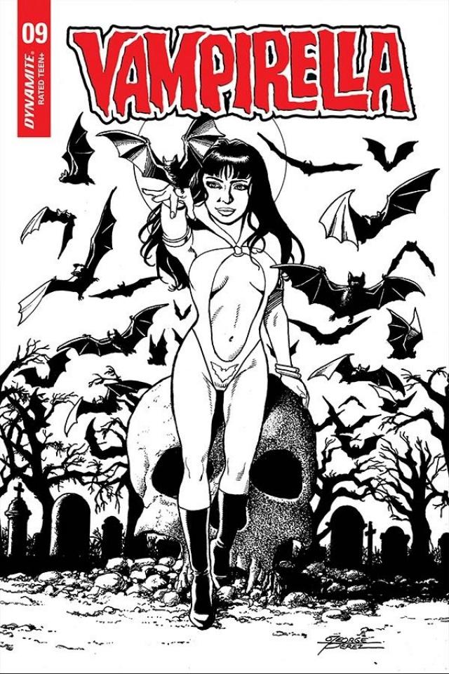 Vampirella #9 (25 Copy Perez B&W Cover)