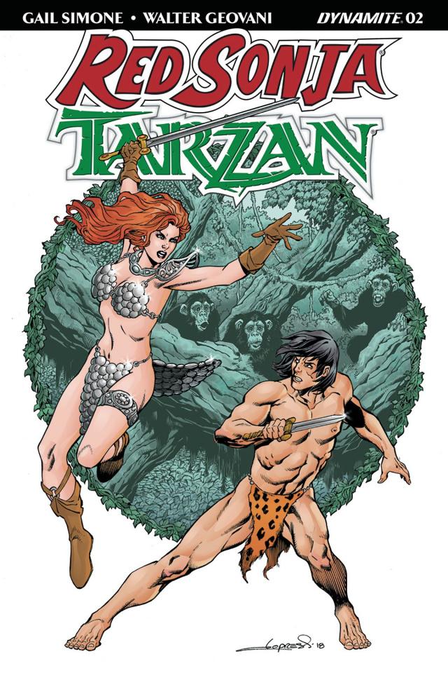 Red Sonja / Tarzan #2 (Lopresti Cover)