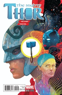 The Mighty Thor #15 (Ward Story Thus Far Cover)