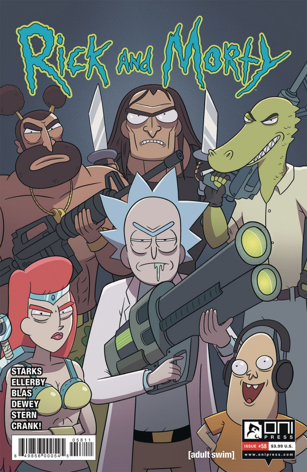 Rick and Morty #58 (Ellerby Cover)