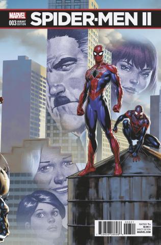 Spider-Men II #3 (Saiz Connecting Cover)