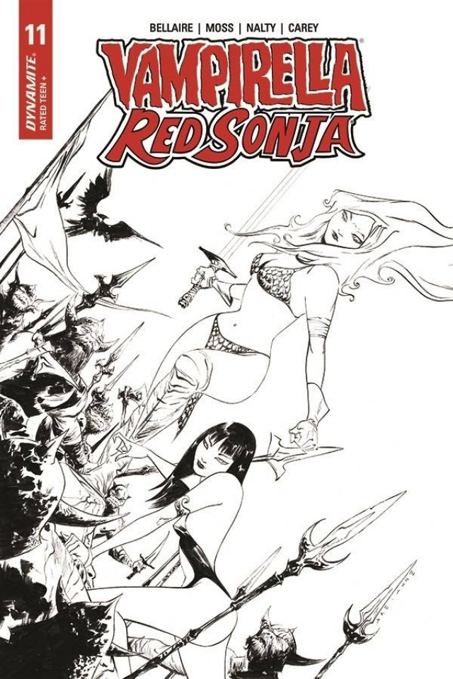 Vampirella / Red Sonja #11 (21 Copy Lee B&W Cover)