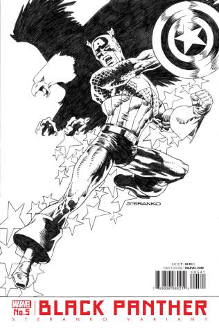 Black Panther #5 (Steranko Captain America Cover)
