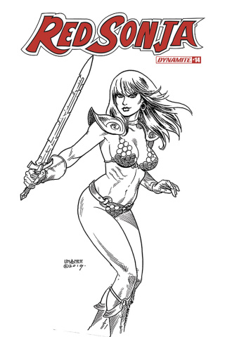 Red Sonja #14 (30 Copy Linsner B&W Cover)