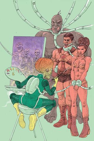 Warlord of Mars Attacks #4 (10 Copy Villalobos Virgin Cover)