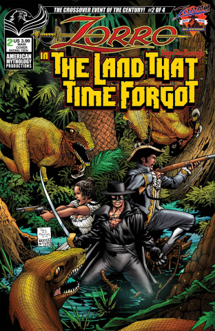 Zorro in The Land That Time Forgot #2 (Martinez Cover)