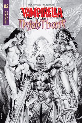 Vampirella / Dejah Thoris #2 (20 Copy Anacleto B&W Cover)