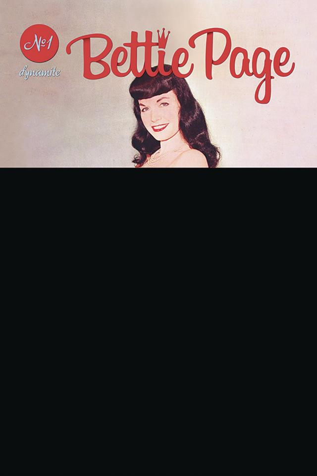 Bettie Page #1 (Black Bag Photo Cover)