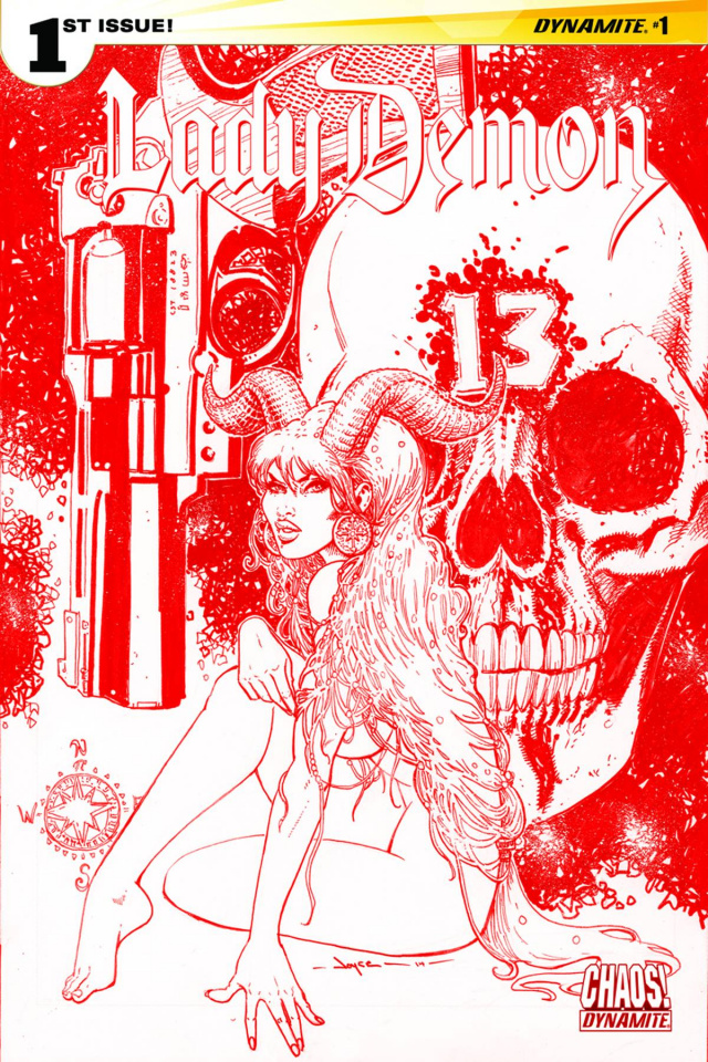Lady Demon #1 (Rare Chin Blood Red Cover)