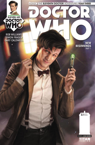 Doctor Who: New Adventures with the Eleventh Doctor, Year Three #1 (Burns Cover)