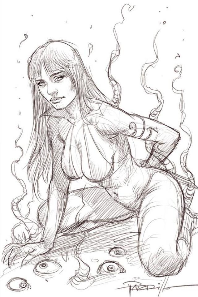 Vampirella #17 (50 Copy Parrillo Virgin B&W Cover)