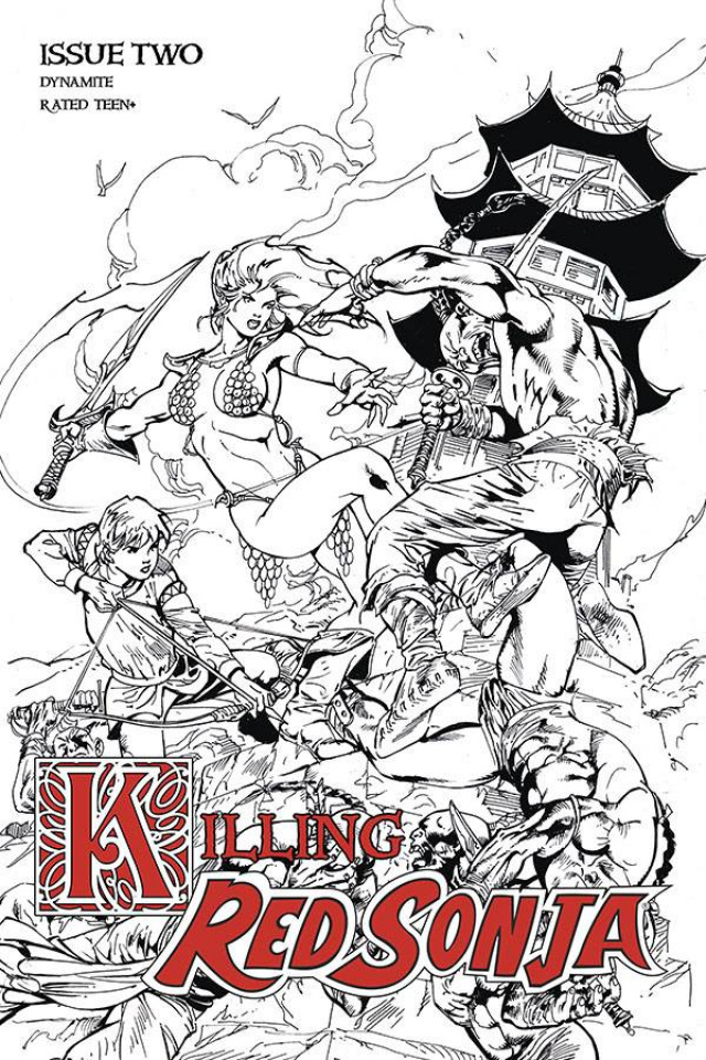 Killing Red Sonja #2 (7 Copy Castro B&W Cover)
