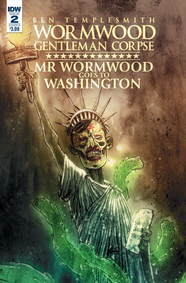 Wormwood: Gentleman Corpse - Mr. Wormwood Goes To Washington #2 (Templesmith Cover)