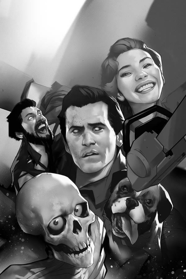 Death to the Army of Darkness #1 (21 Copy Oliver B&W Virgin Cover)