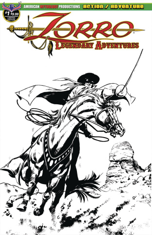 Zorro: Legendary Adventures #1 (Blazing Blades of Zorro Cover)