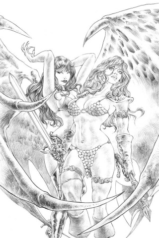 Red Sonja: Age of Chaos #4 (11 Copy Quah Sketch Virgin Cover)